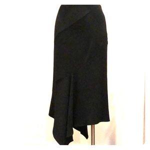 Asymmetrical bias cut MaxMara skirt.